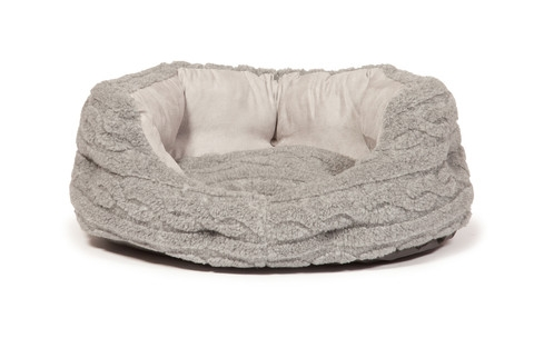 Bobble snuggle dog beds - Pewter - Deluxe Bed