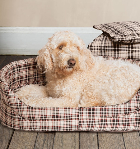 Classic Check Slumber Dog Bed